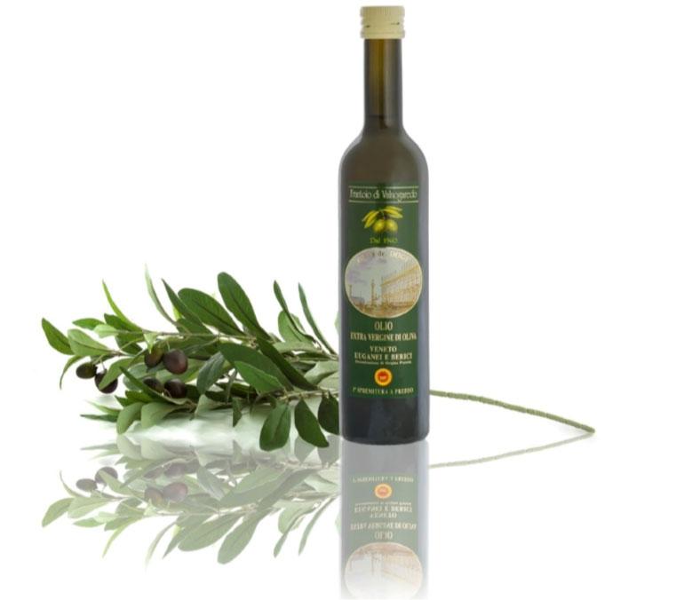 """Frantoio di Valnogaredo – Olio """" Dei Dogi"""" Olio di di oliva extravergine Dop Veneto Euganee e Berici Spremuto a freddo e non filtrato Bottiglia 0,75 L"""